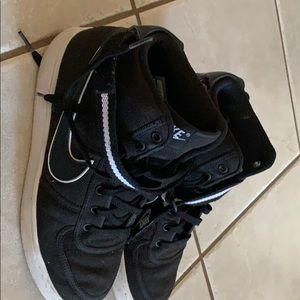 Black and White high top Nikes